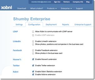 Xobni Admin Portal