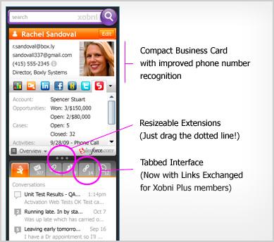 Xobni 1.8.5 Screenshot